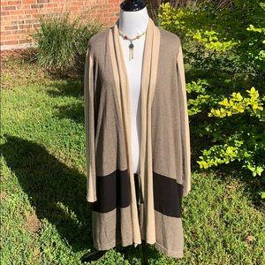 August Silk drape front cardigan Medium